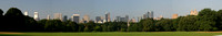 Panorama of the south end of Central park, New York.